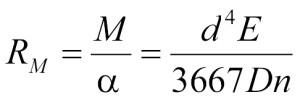 Ressorts de torsion à taux de couple Formula