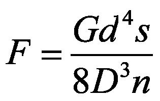 Druckfeder Formel - Federkraft
