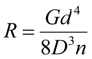 Druckfeder Formel - Federrate