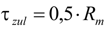 Druckfeder Formel - Zulässige Spannung