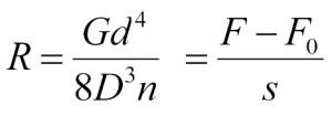 Formel Federkonstante Zugfedern
